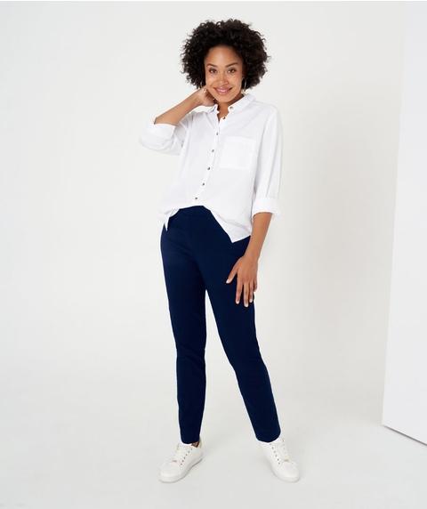 Straight P/O Navy Microtwill Pant
