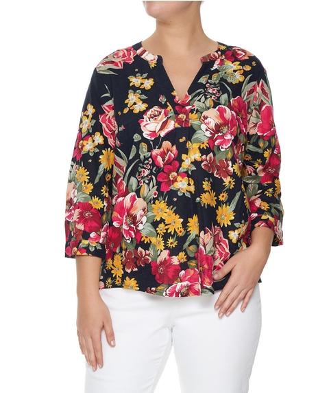 Linen Blend Floral Shirt