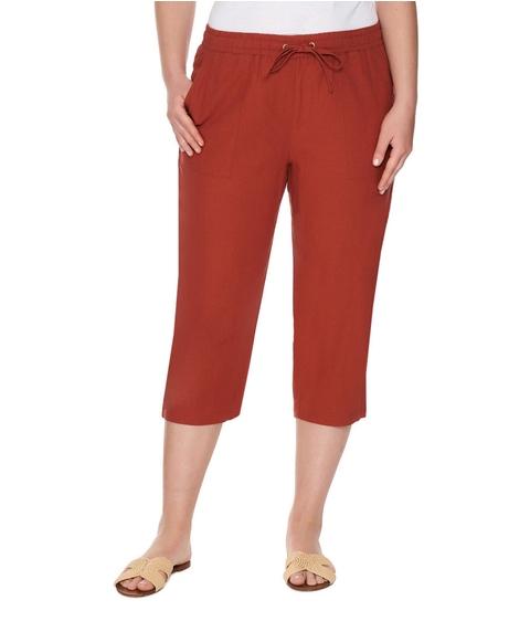 Crop Linen Blend Pant