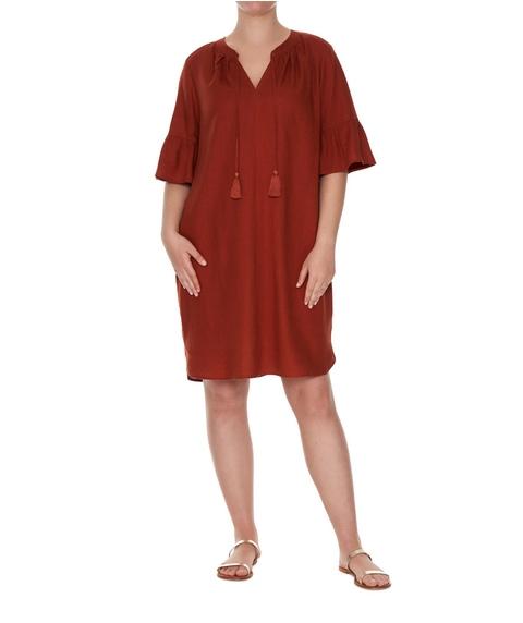 Linen Blend Dress