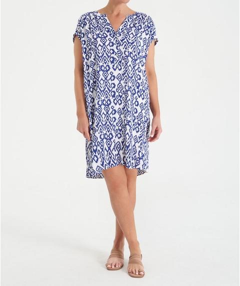 Extended Sleeve Print Dress