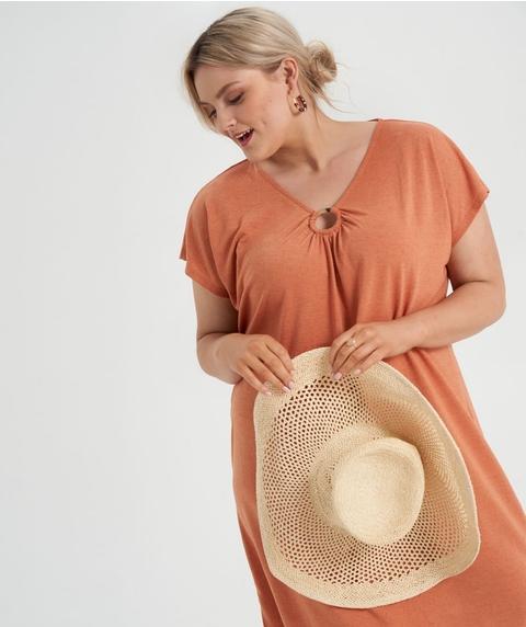 Ring Detail T-Shirt Dress