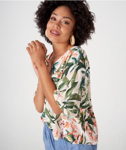 Linen Blend Kimono Top