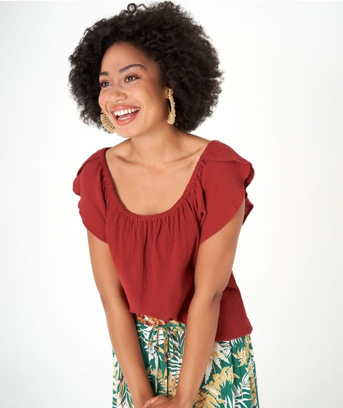 Cotton Crinkle Top