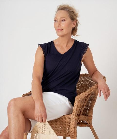Lace Shoulder Singlet