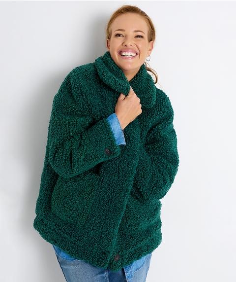 L/S Green Teddy Jacket