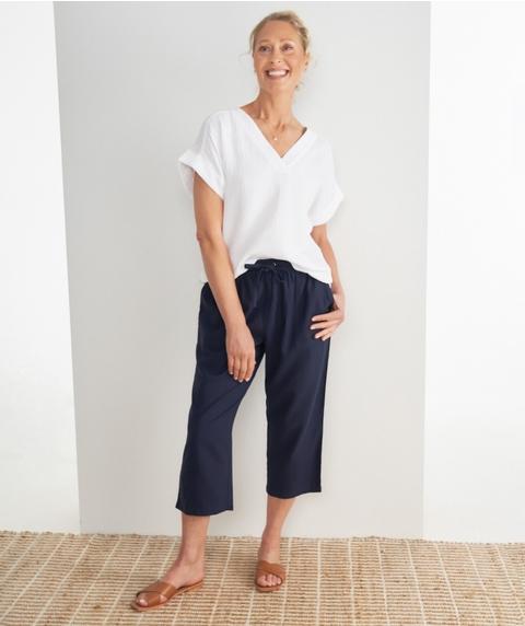 Crop Linen Pant