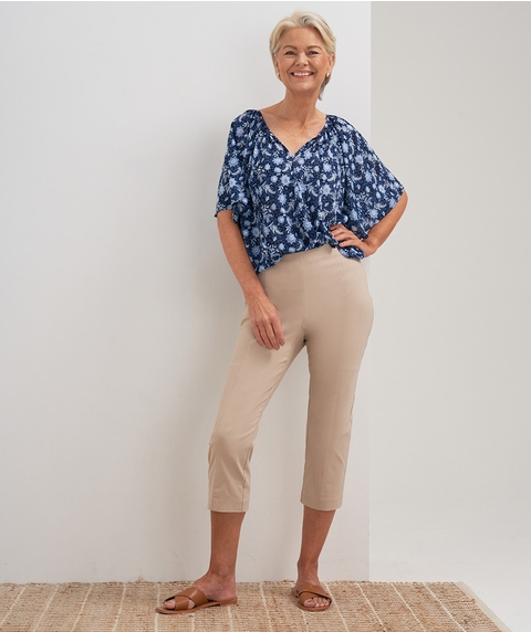 Crop Colour Microtwill Pant