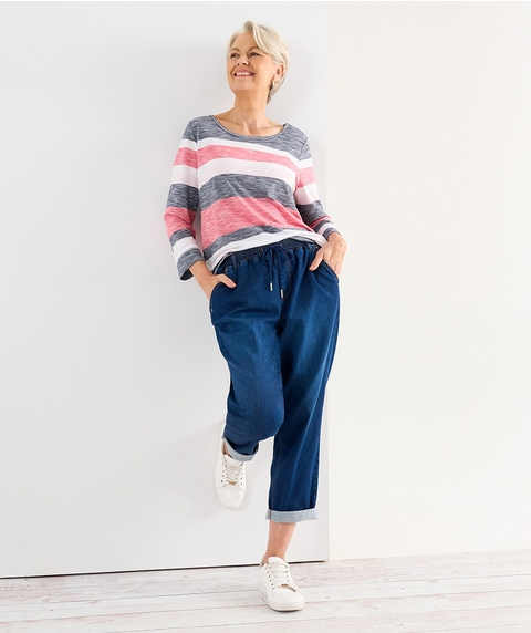 A/L Knitted Denim Jogger