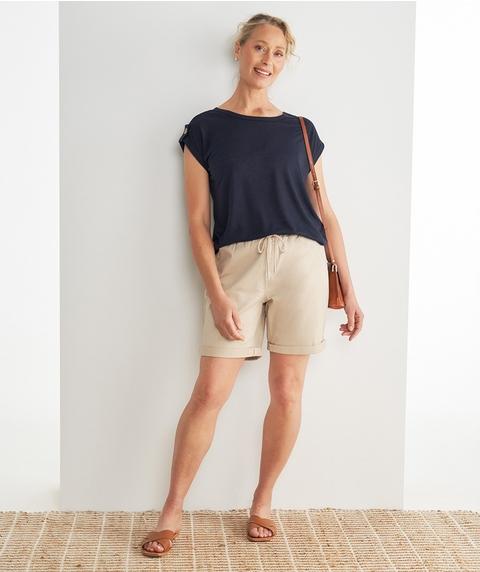 M/L Knitted Denim Jogger Short