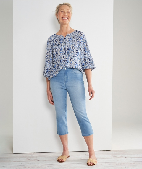 Crop Fly Front Supersoft Jean