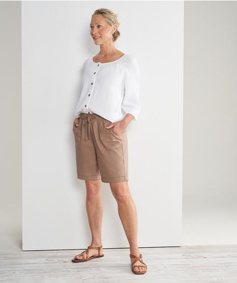Mid Length Cotton Short