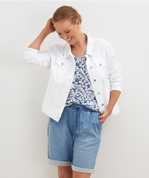 L/S Lyocell Jean Style Jacket