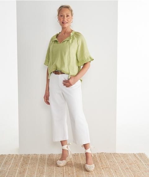 7/8 Wide Leg Premium Denim Jean