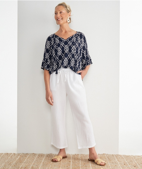 A/L Wide Cheesecloth Pant