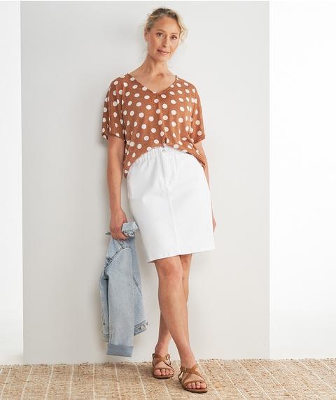 Paperbag Waist Denim Skirt