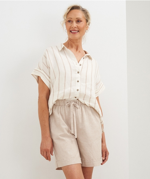 M/L Linen Blend Short