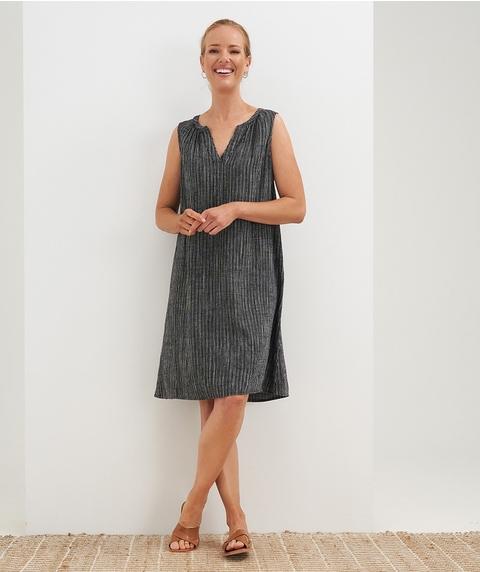 K/L S/Less Stripe Linen Dress