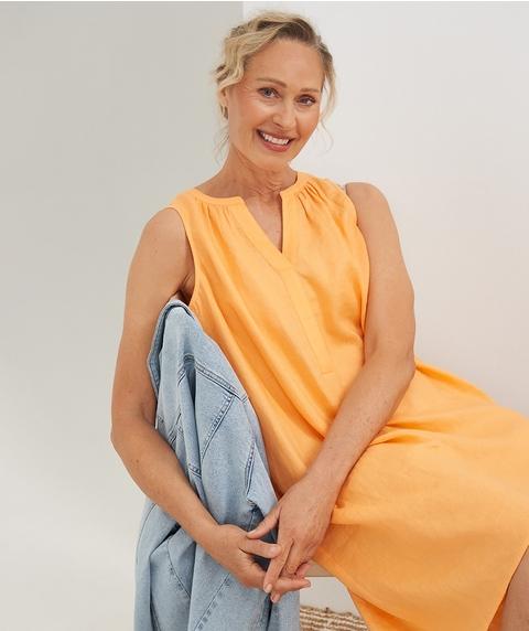 K/L S/Less Linen Dress